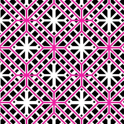 Kanvas Studio Fruit Punch Geo Trellis - Black/Pink