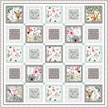 P&B Textiles Aussie Friends Panel Quilt Kit