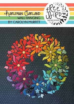 Harlequin Garland Quilt Pattern - PAPER pattern
