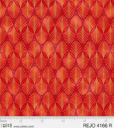 P&B Textiles Rejoice Geometrics - Red
