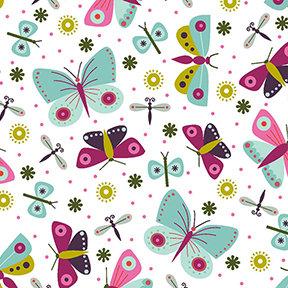 Summer Sampler Butterflies - White