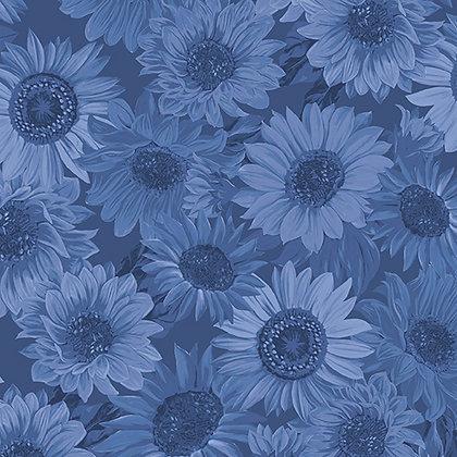 Benartex Sunflower Whisper Wideback - Denim Blue