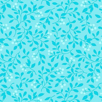 Benartex  Rose Whispers Berry Blush - Aqua