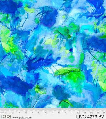 P&B Textiles Living Coastal Watercolors - Blue Violet