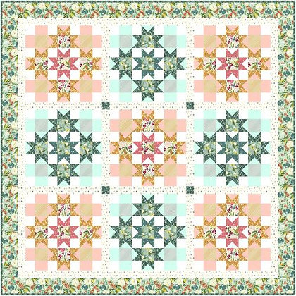 Windham Cora Day Lilies Quilt - Free Pattern