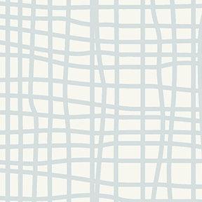 Clothworks Blue Goose Grid - Grey
