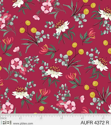 P&B Textiles Aussie Friends Flower - Red