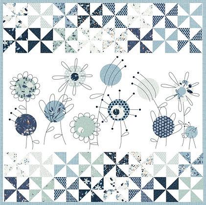 Clothworks Blue Goose Blue Breeze Quilt Kit