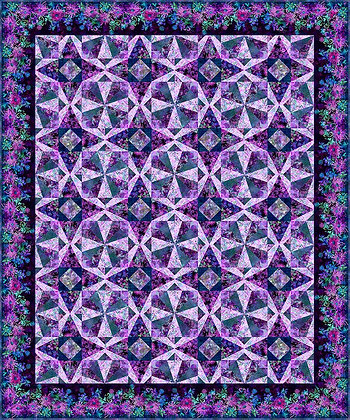 In The Beginning Floragraphix Facets Quilt Kit