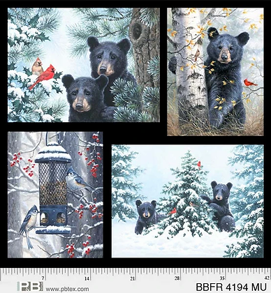 P&B Textiles Beary Best Friends Panel - 43 inches