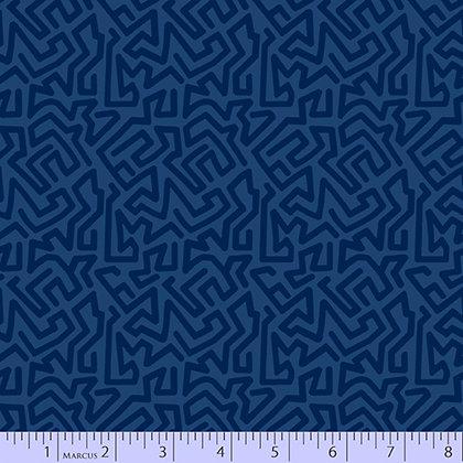Marcus Fabrics Las Flores Maze - Blue