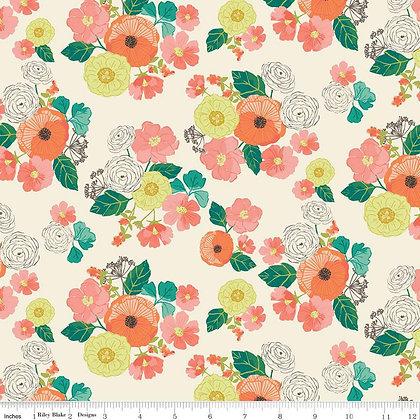 Riley Blake Midsummer Meadows Wild Bouquet - Cream