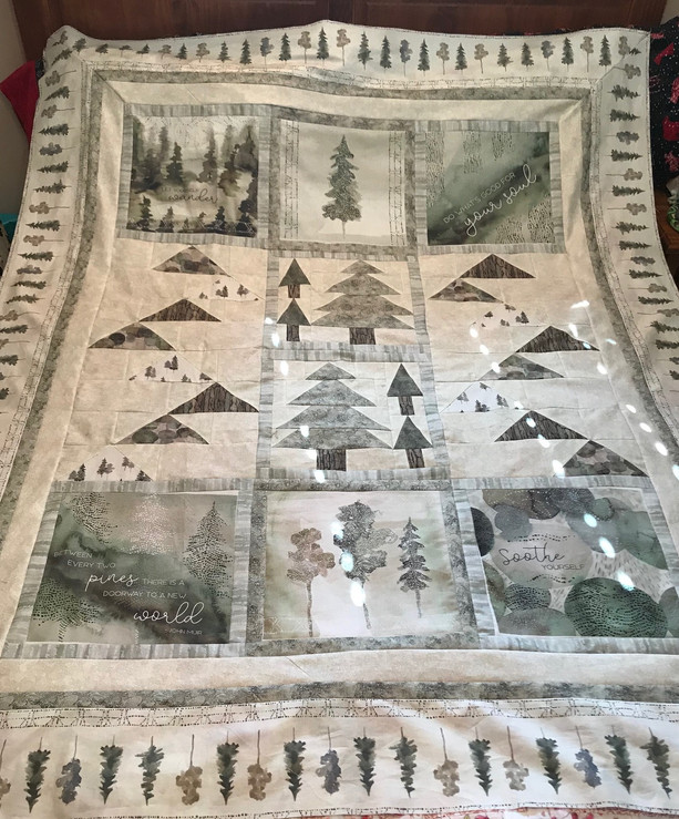 Forest Retreat ready for quilting