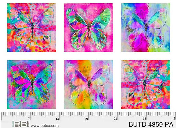P&B Textiles Butterfly Dreams Panel - 28 inches