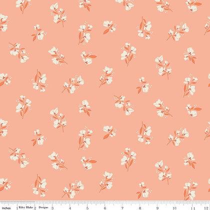 Riley Blake Midsummer Meadows Blossom - Salmon