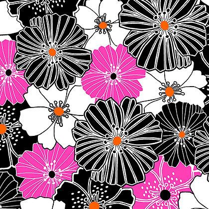 Kanvas Studio Fruit Punch Packed Poppies- Pink/Black