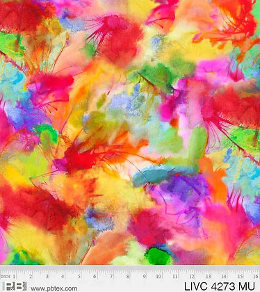 P&B Textiles Living Coastal Watercolors - Multi