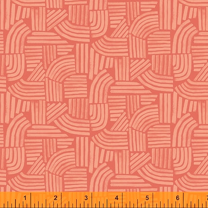 Windham Wildflowers Linear - Coral