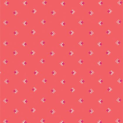 Art Gallery Fabrics Open Heart Everlasting Tokens - Coral