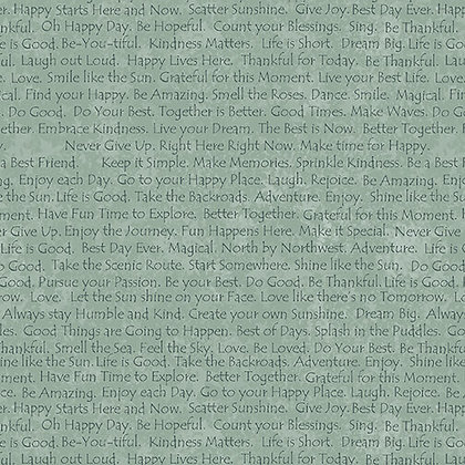 Henry Glass Scrap Happy Happy Text - Light Blue