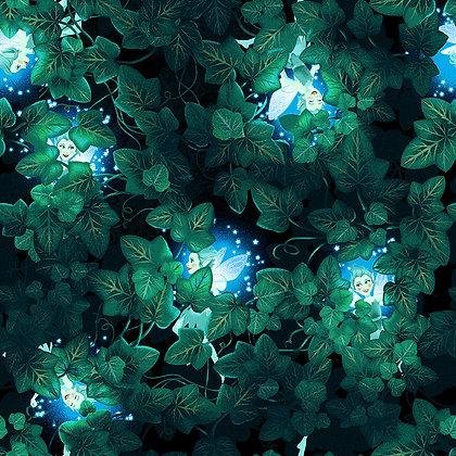 Henry Glass Summer Soiree Peeking Fairies - Black/Green