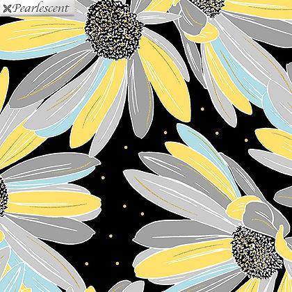 Kanvas Studio Shimmer & Shine Daisies - Black