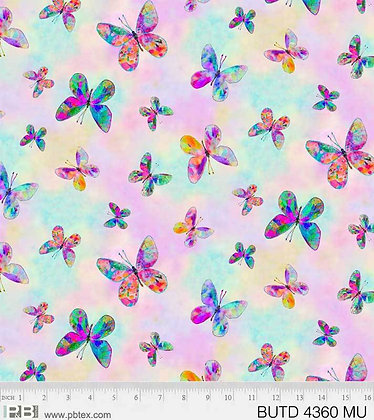 P&B Textiles Butterfly Dreams Allover Butterflies -Multi