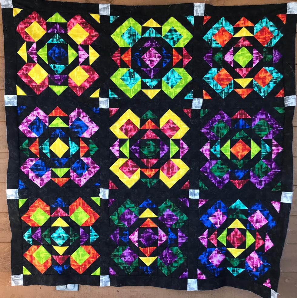 Black Prismachrome Quilt