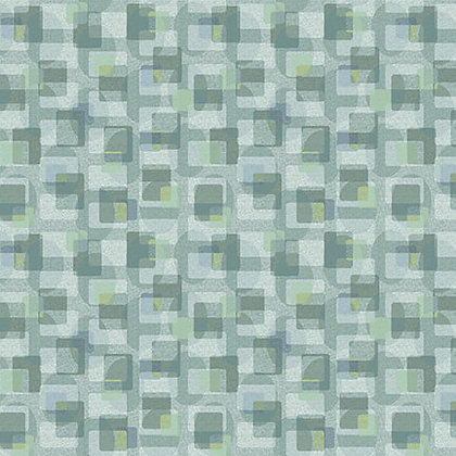Henry Glass Scrap Happy Square  Textile - Light Blue