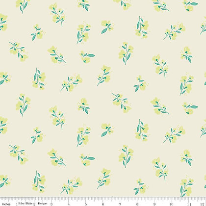 Riley Blake Midsummer Meadows Blossom - Cream
