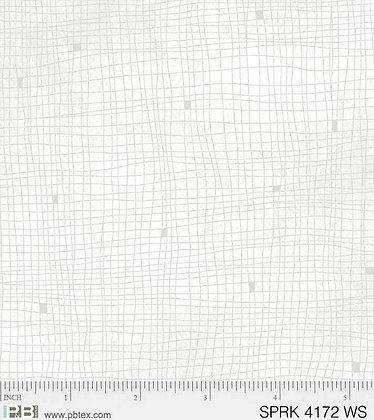 P&B Textiles Sparkle Suede Grid - White