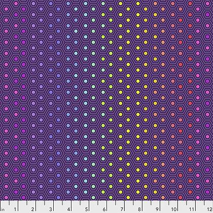Tula Pink's True Colors Hexy Rainbow - Starling