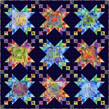 P&B Textiles Living Coastal Sea Stars Quilt - Free Pattern