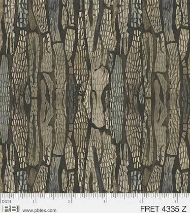 P&B Textiles Forest Retreat Bark - Green