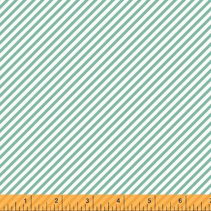 Windham Cora Diagonal Stripe - Aqua
