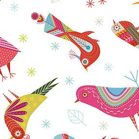 Summer Sampler Birds -White