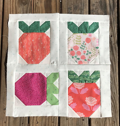 Strawberry Fields Quilt Kit featuring Riley Blake's New Dawn