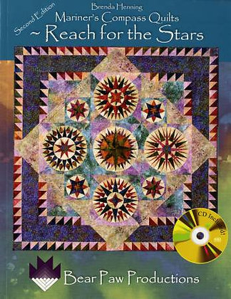 Mariner's Compass Quilts Reach For the Stars - Softcover Quilt Book