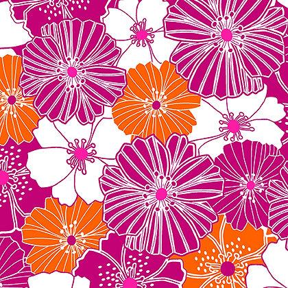 Kanvas Studio Fruit Punch Packed Poppies- Pink/Orange