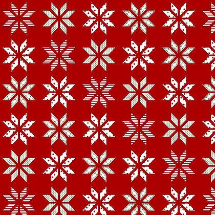 Henry Glass Holly Hill Christmas Lemoyne Star - Red