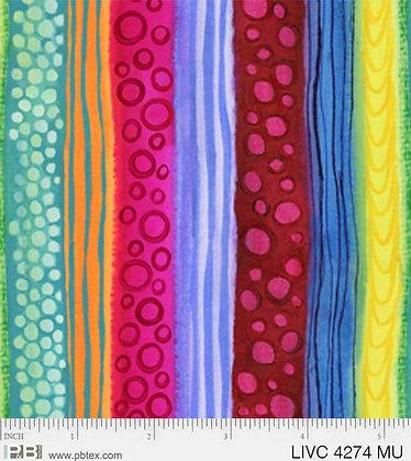 P&B Textiles Living Coastal Stripes - Multi
