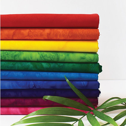 Anthology Lava 10 piece Batik Fat Quarter Bundle - Rainbow