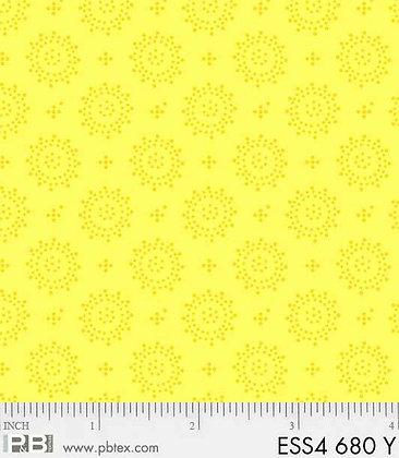 P&B Textiles Geometric Dots- Yellow