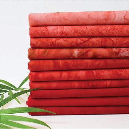 Anthology Lava 10 piece Batik Fat Quarter Bundle - Lovable