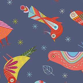 Summer Sampler Birds - Blue