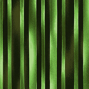 Clothworks Trellis Watercolor Stripe - Dark Lime