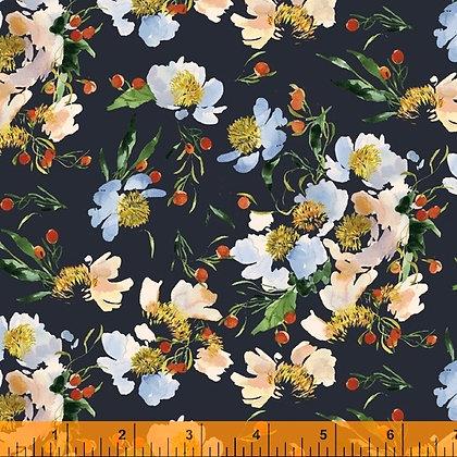 Windham Wildflowers Claire de Lune - Midnight