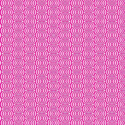 Kanvas Studio Fruit Punch Optic Circles - White/Pink