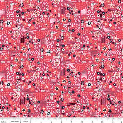 Riley Blake Golden Aster Garden - Dark Pink