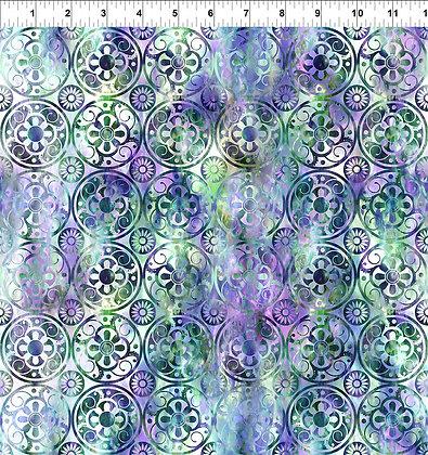 In The Beginning Floragraphix V Medallions - Green/Purple